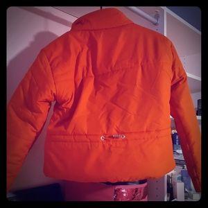 Red mock neck  jacket